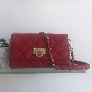 DKNY Quilted Red Crossbody Bag
